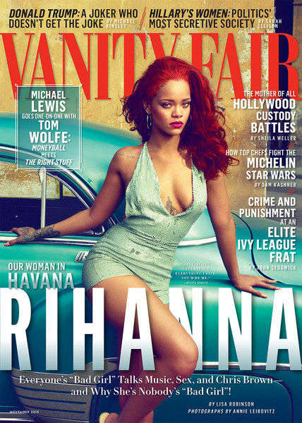 Havana Songstress Photo Shoots - Cuba is the Backdrop for Rihanna's Vanity Fair November Spread