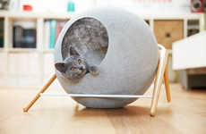 Cozy Cat Cocoons - The 'Meyou' Line of Pet Furniture is an Elegant Option for Your Feline Friend