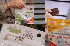 Anecdotal Jerky Branding - The Sweet Meat Jerky Packages Each Tell a Unique & Personalized Story
