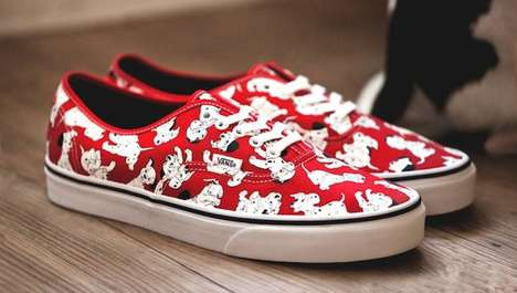 Cartoon Streetwear Sneakers - These Disney Vans Shoes Feature Delightfully Busy Patterns
