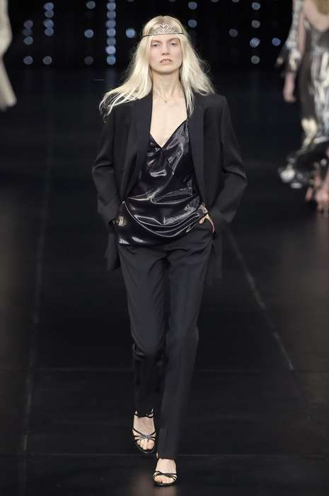 Regal Rocker Fashion - This Saint Laurent Spring Collection is Fit for the Princesses of Punk