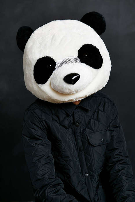 Plush Panda Masks - This Realistic Panda Disguise Resembles a Stuffed Animal Toy