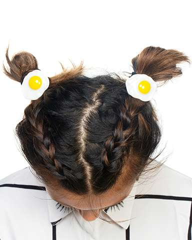 Breakfast-Themed Hair Accessories - INU INU's Egg Hairbands Celebrate the Most Important Daily Meal