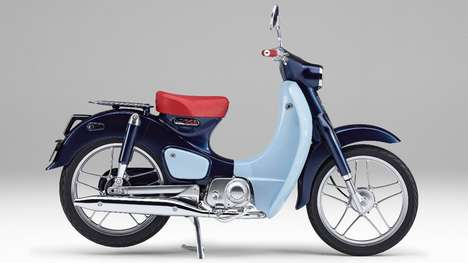 Homage-Paying Motorbikes - Honda's Super Cub Concept Pays Tribute to the 1958 Super Cub