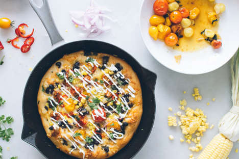 Healthy Mexican Pizzas - This Homemade Pizza From Kale & Caramel Features Mexican-Themed Toppings