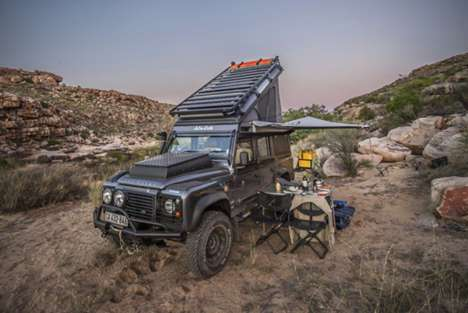 Luxury Off-Road Vehicles - The Land Rover Defender Icarus is Prepared for Life in the Wilderness