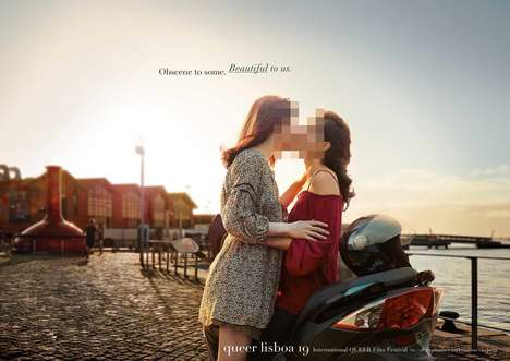 Censored LGBT Film Ads - These Ads Promote Sexual Equality for the Queer Lisboa Film Festival
