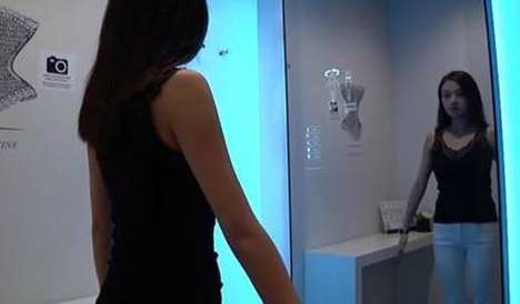 Bra Size-Determining Mirrors - This Smart Mirror at Rigby & Peller Helps Women Find Their Bra Size