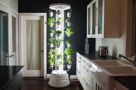 Luminous Vertical Gardens - This Indoor Hydroponic System is Designed for Small Living Spaces
