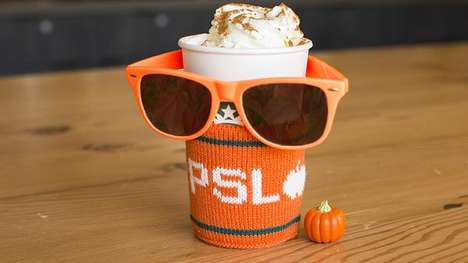 Seasonal Latte Clubs - The Orange Sleeve Society was Created by Starbucks to Honor Pumpkin Lattes
