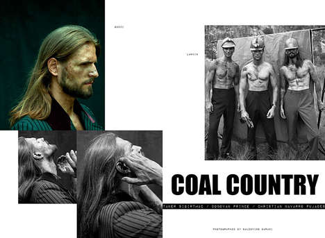 Coal Miner Editorials - Mr. Style's Latest Issue Highlights Rugged and Masculine Apparel