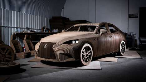 Drivable Cardboard Cars - Lexus' Origami Car is Made Of 1,700 Cardboard Sheets