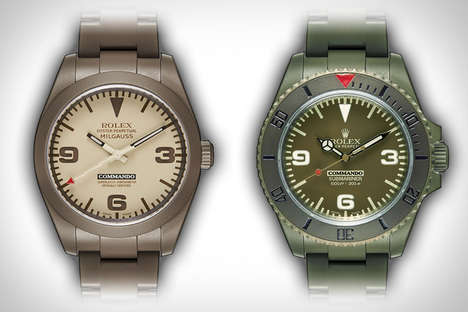 Military-Inspired Luxury Watches - Bamford Rolex Commando Watches Combine Quality and Style
