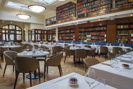 Library Restaurant Hybrids - The Cinnamon Club is an Indian Eatery and Authentic English Library