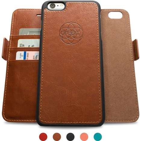 All-in-One Device Protectors - The Fibonacci by Dreem iPhone Wallet Case Offers Flexible Function