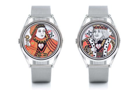 Playing Card Timepieces - These Watches by Mr Jones Feature Royal Faces from a Deck of Playing Cards