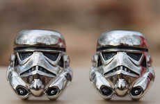 Geeky Sci-Fi Accessories - These Stormtrooper Star Wars Cufflinks are Perfect for Franchise Fans