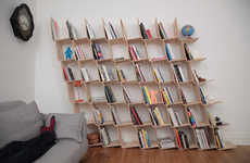 L-Shaped Angled Shelves