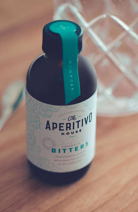 Medicinal Bitters Branding - The Aperitivo House Bitters Packaging is Focused on Artistic Travels