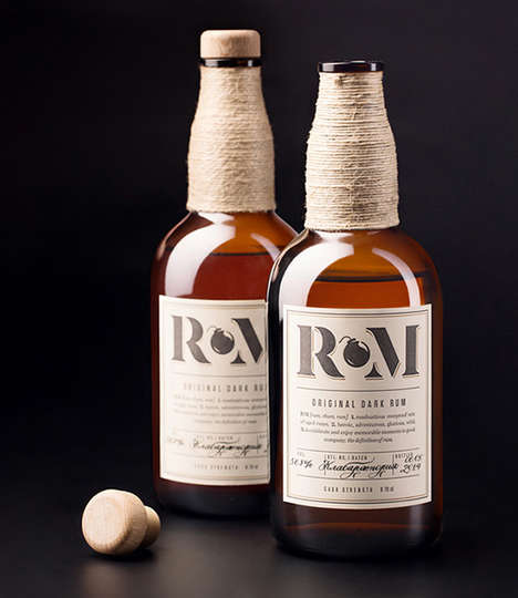 Rope-Wrapped Rums - RM Rum is Encased in Beautiful Bottles that Highlight Multiple Influences