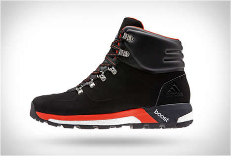 Sportswear Hiking Boots - The Adidas Boost Urban Hiker Shoes are Designed for Athletic Outdoor Wear
