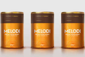 MELODI Honey Features an All-Gold Container That's Simply Prismatic