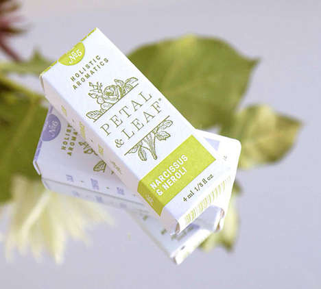 France-Inspired Packaging - Petal & Leaf Holistic Aromatics Take on a Parisian Aesthetic