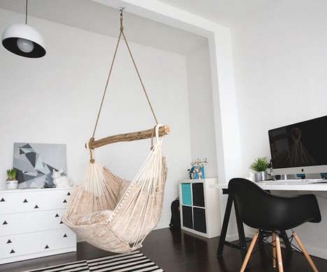 Sustainable Hanging Furniture - This Eco-Friendly Hammock Chair is Perfect for Relaxed Spaces