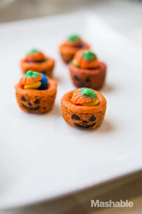 Candy-Filled Cookie Cups - These Adorable Jack o Lantern Cookies are Edible Candy Holders