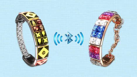 Message-Sending Friendship Bracelets - This Light-Up Jewelry Flashes Coded Signals Between BFFs