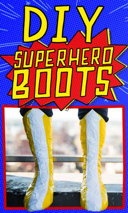 DIY Superhero Boots - This Halloween DIY is an Essential Costume Accessory Made Out of Duct Tape