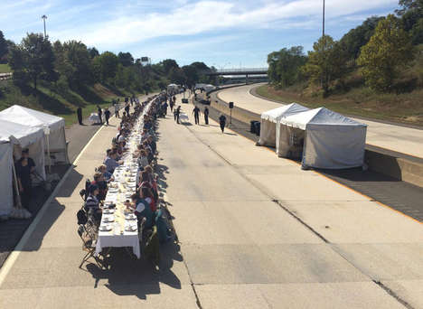 Traffic-Halting Dinner Parties - Artist Hunter Franks Shut Down the Freeway to Host a Communal Meal