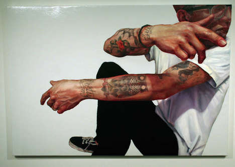 Tattooed Oil Portraits - These Detailed Oil Paintings Realistically Portray Inked Individuals