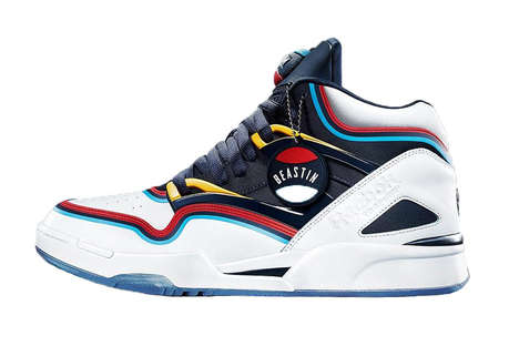 90s-Inspired Basketball Sneakers - This Shoe Collab Uses the Vivid Colors of 90s Basketball Culture