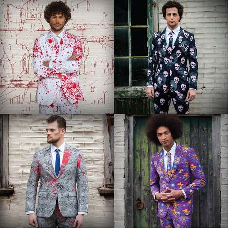 Spooky Seasonal Suits - These Creepy Halloween Suits Bring a Sense of Class to the Eerie Holiday