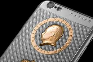 This iPhone is Decorated with a Gold Encrusted Vladimir Putin
