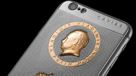 Luxurious Presidential Smartphones - This iPhone is Decorated with a Gold Encrusted Vladimir Putin