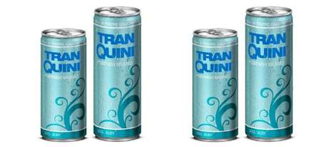 Carbonated Relaxation Drinks - The Tranquini Beverage Products are Aimed at Relieving Daily Stresses