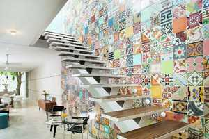 This Mexico House was Decorated with Inspiration from a Mosaic Decal