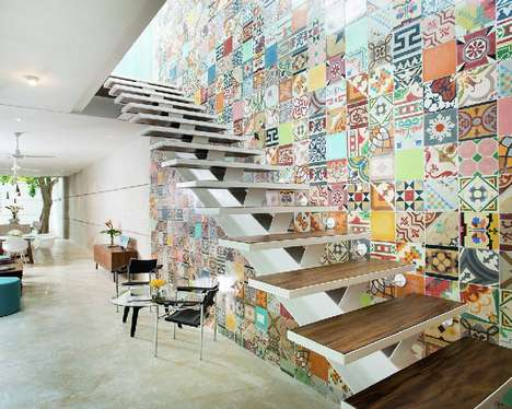 Mosaic Mexican Walls - This Mexico House was Decorated with Inspiration from a Mosaic Decal