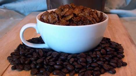 Caffeinated Cereals - This Coffee Cereal Blends Two Breakfast Items in One Serving