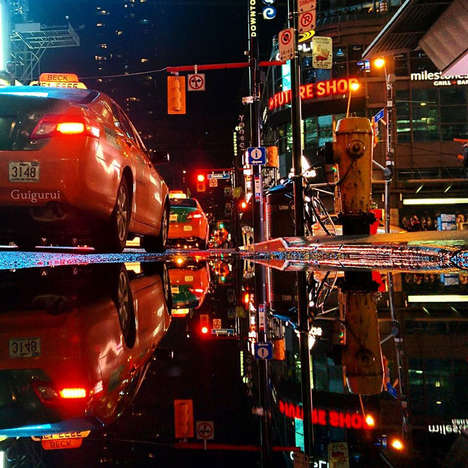 Reflective Cityscape Photography - These Stunning Images by 'guigurui' Were Shot with a Smartphone