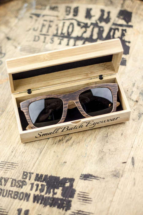 Bourbon Barrel Eyewear - These Sunglasses are Made from American White Oak Wooden Barrels