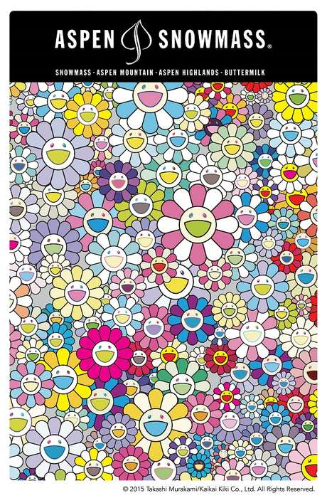 Artist-Designed Ski Lift Tickets - Takashi Murakami Has Designed Souvenir Lift Tickets in Aspen