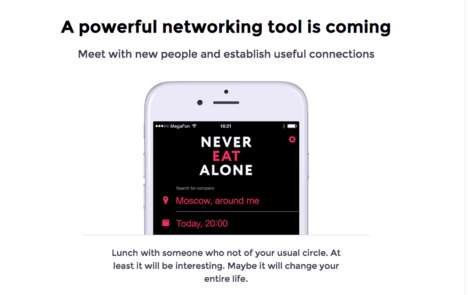 Food-Based Networking Apps - This App Encourages Users to Dine with Strangers