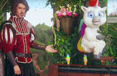 This 'Squatty Potty' Ad Features Unicorn Poop as Ice Cream Fit for a King