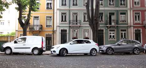 Shrinking Car Stunts - This Smart Car Ad Features Size-Adjusting Cars for Easier Parallel Parking