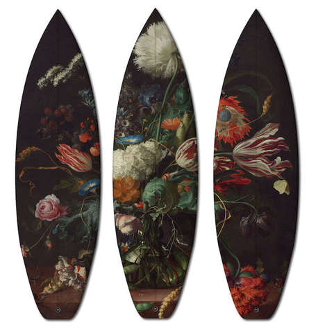 Artistic Surf Equipment (UPDATE) - These Classical Surf & Skateboards Feature Artwork from the 1600s