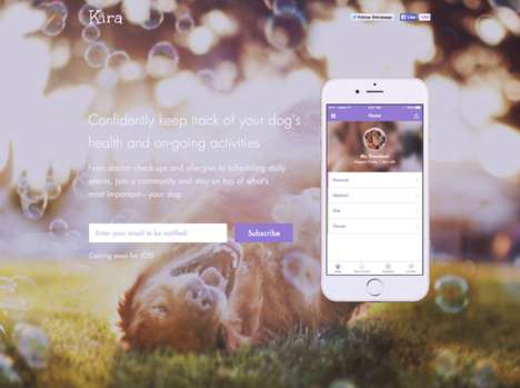 Canine Health Trackers - This App Helps Dog Owners Keep Track of Their Pet's Health Records