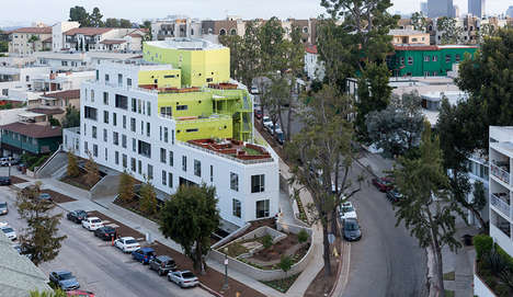 Hillside College Residences - This UCLA Residence Has Multiple Green Spaces and Outdoor Corridors